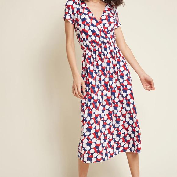 e05096512a2e ModCloth Dresses | Midi Dress In Circles By Xl | Poshmark